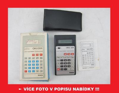 TESLA OKU 209 sada - sbírková kalkulačka ČSSR