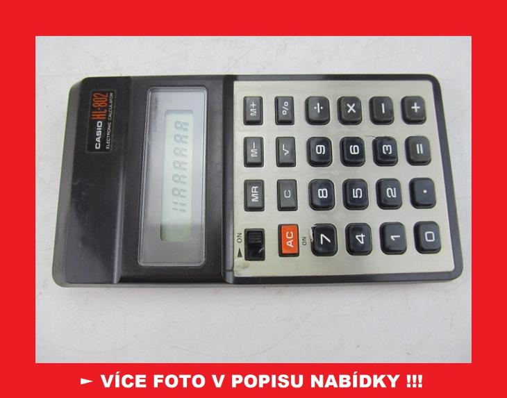 Casio HL-802 - sbírková kalkulačka JAPAN - Historické počítače