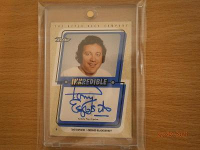 Tony Esposito - hard signed card 1999 !