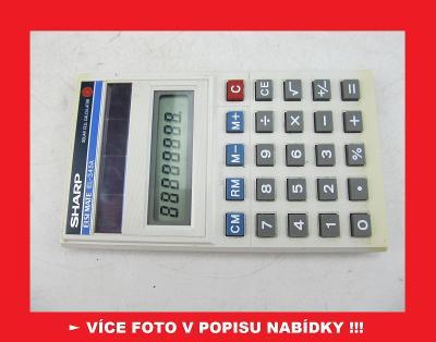 SHARP EL-345A - sbírková kalkulačka - KOREA
