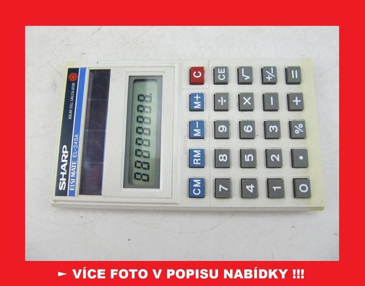 SHARP EL-345A - sbírková kalkulačka - KOREA - Historické počítače