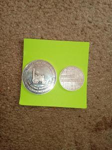 Staré stříbrné německé mince top stav váha 38 gramů