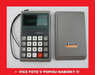 SANYO CX-8014 - sbírková kalkulačka - JAPAN 1975 !!!