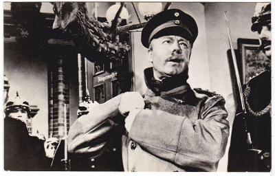 Česká filmová fotoska s hercem Heinz Rühmann  (7x11 cm)