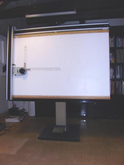 rýsovací přístroj (kovový stojan, dřevěná deska, pantograf) KINEX - Kancelář