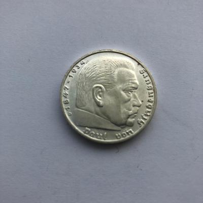 Říšská 5 marka 1939 D