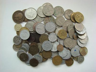 Zahraniční mince, 105 ks