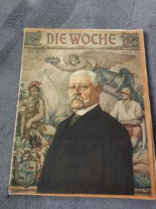Dobový časopis Die Woche z roku 1927 Hindenburg.