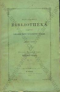 Novočeská bibliothéka Dějepis Prahy, díl III. 1875