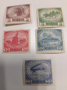 ANK 1915  Válečné vdovy 180-184  * od korunky !!!!