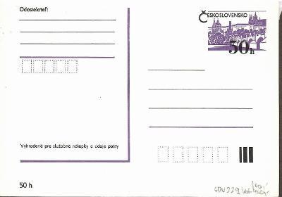 V7011  - Příležitostná poštovní dopisnice - CDV