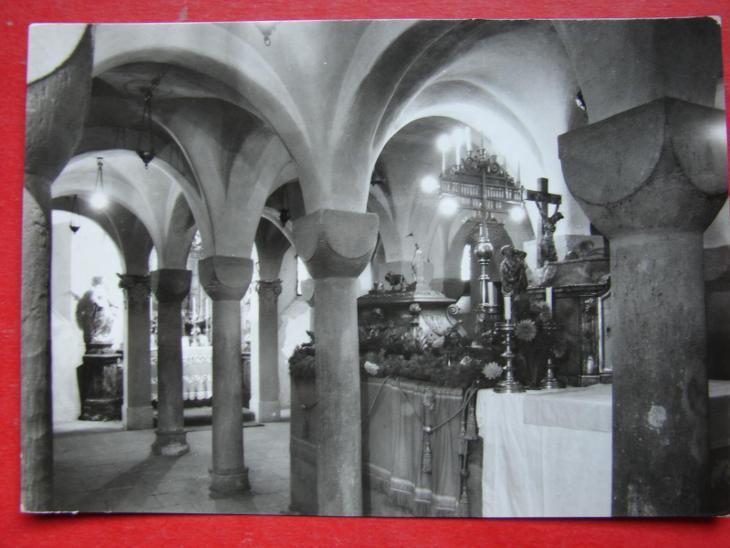 BRANDÝS nad Labem Stará Boleslav Románská krypta VF ČB - Pohlednice