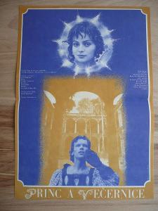 Princ a Večernice (filmový plakát, film ČSSR 1978, rež