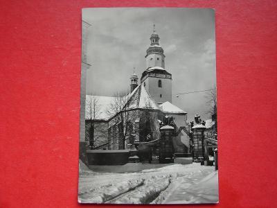 HOSTINNÉ nad Labem Kostelík Zima   VF ČB