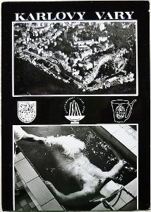 KARLOVY VARY * Znaky, letecký, masáž  / ČB /