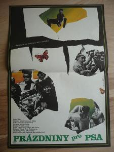 Prázdniny pro psa (filmový plakát, film ČSSR 1980, rež