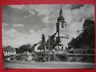 CHODSKO KLENČÍ Martinský kostel AUTA dobová VF ČB
