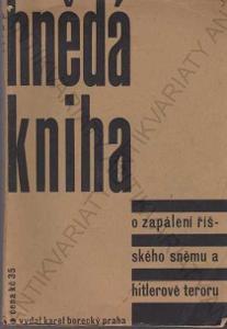 Hnědá kniha Karel Borecký, Praha 1933