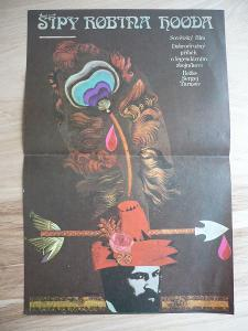Šípy Robina Hooda (filmový plakát, film SSSR 1976, rež