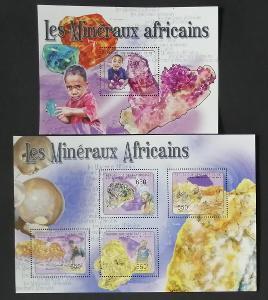 Středoafrická rep. 2011 Mi.2958-1+Bl.704 19,5€ Africké minerály, Zlato