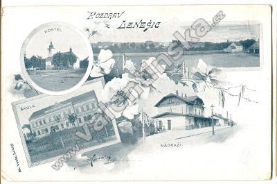 Lenešice, Louny, nádraží