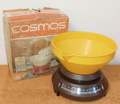 Retro kuchyňská váha Cosmos do 2 kg vč. misky -výborný stav !!!