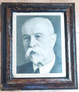 Všechno musí pryč - stará lékarnička s portrétem T.G.Masaryka (k202)