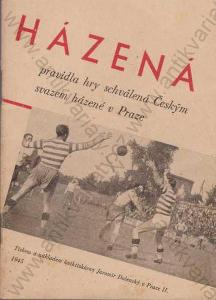Házená Pravidla házené 1945 Jaromír Dolenský Praha