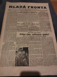 Dobové noviny-Mladá Fronta 1945.