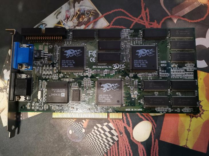 3Dfx Voodoo 2, asi 8MB (A-Trend - VD200P) - Historické počítače
