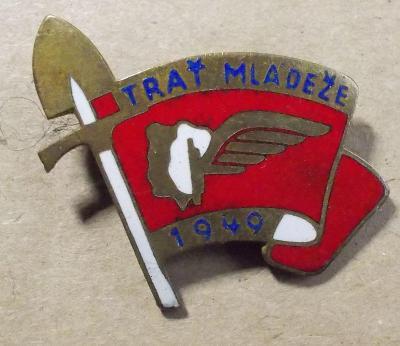 odznaky SSM  Trať mládeže 1949