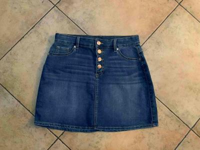 Džínová mini sukně