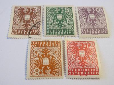Prodávám známky Rakousko 1945, Nové výsostné znaky