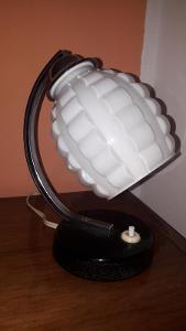 Stará retro  stolní lampička - brusel
