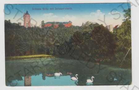 Hradec nad Moravicí (Grätz) - Opava, zámek, rybník