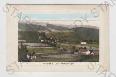 Lázně Běloves (Náchod), celkový pohled, kolorovaná
