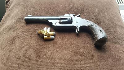 Historický revolver Smith-Wesson cal.32CF SA 1872 Hezký pův. stav