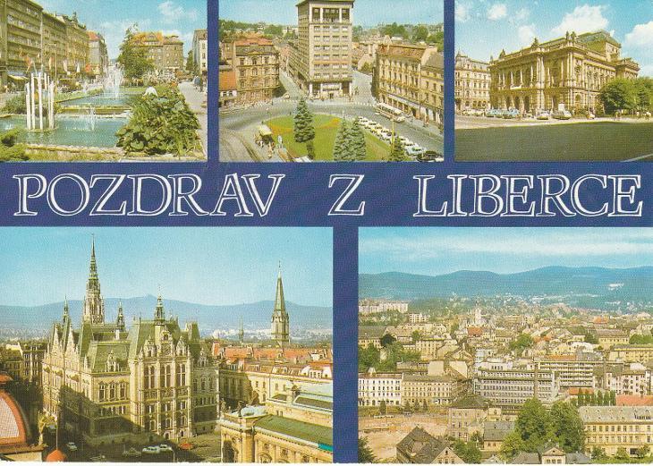 Pozdrav z Liberce - Pohlednice