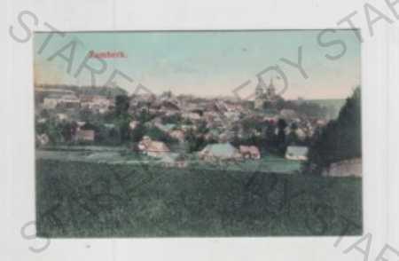 Žamberk (Ústí nad Orlicí), pohled na město, koloro