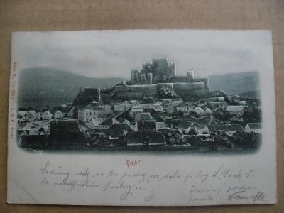 hrad Rabí Klatovy Šumava Sušice tlačená plastická reliéfní DA