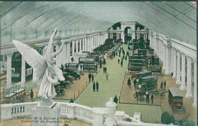 27A10 Pohlednice Výstava automobilů Brusel 1910