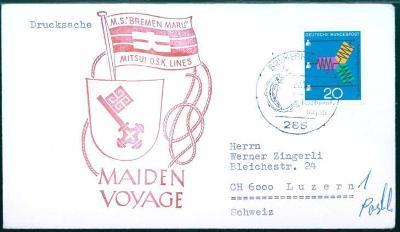17B360 Obálka s příležitostným razítkem lodi MS. BREMEN MARU