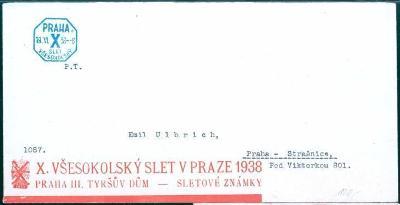 10B909 X. všesokolský slet Praha 1938