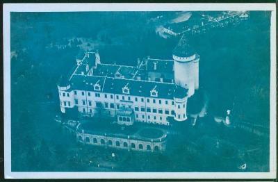 10D684 Zámek Konopiště u Benešova, pohled z letadla