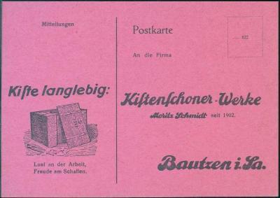 10B977 Reklamní lístek Bautzen / Budyšín