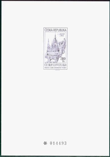 10B1036 Příležitostný černotisk k vydání katalogu Merkur