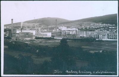 10D884 Zlín- Baťa , továrna s elektrárnou