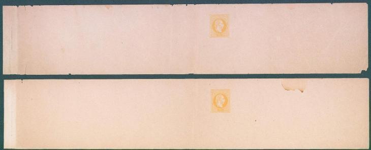 13B177 Nepoužitý novinový rukáv - dva kusy , Franz Josef 2 Kreuzer
