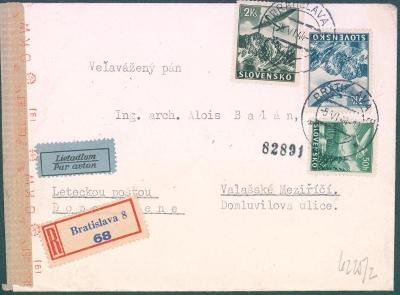 9A20 Slovensko- Letecky, Bratislava- Valašské Meziříčí , cenzura