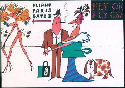 10L154 Letecky- Praha letiště- ADOLF BORN- 1972,Paris,Paříž- Flughafen